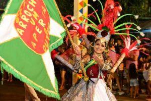 Um pouco do desfile da Escola de Samba Arrocha Um, campeã de 2020